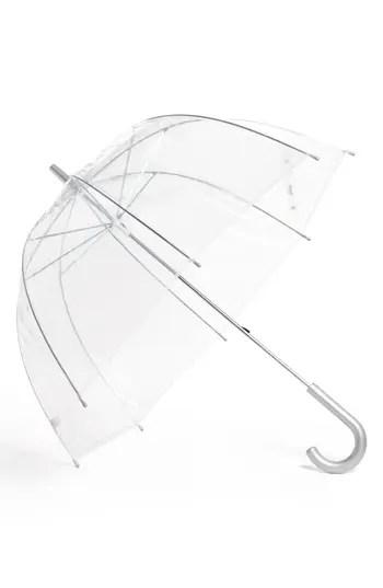 Capelli of New York Clear Manual Dome Umbrella (Juniors