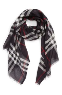 Burberry Giant Check Print Wool & Silk Scarf | Nordstrom