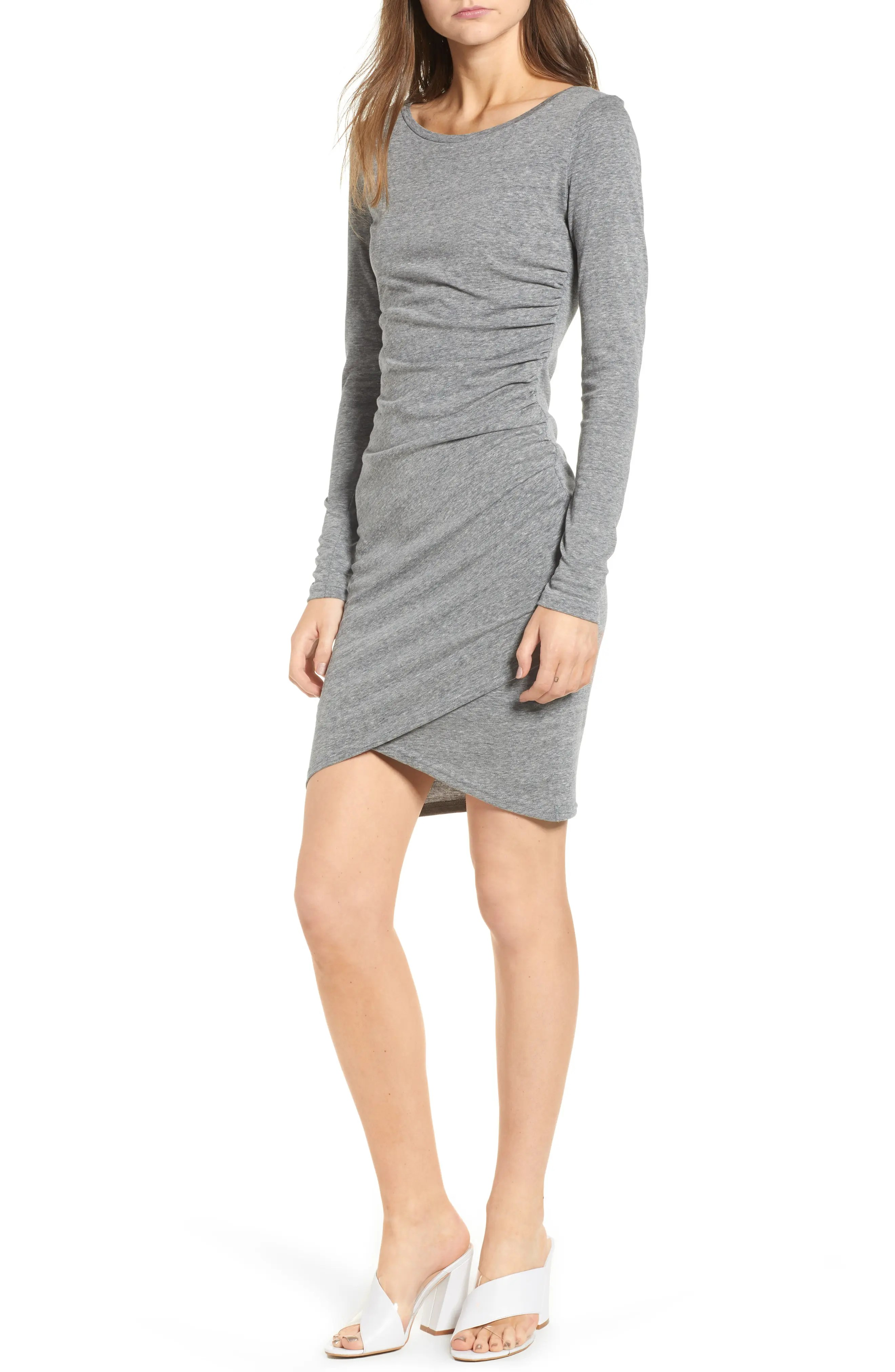 Leith ruched long sleeve dress also plus size dresses nordstrom rh shoprdstrom