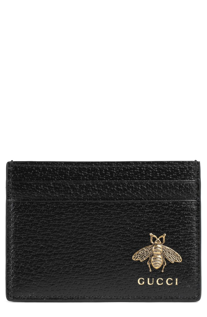 Gucci Bee Leather Card Case