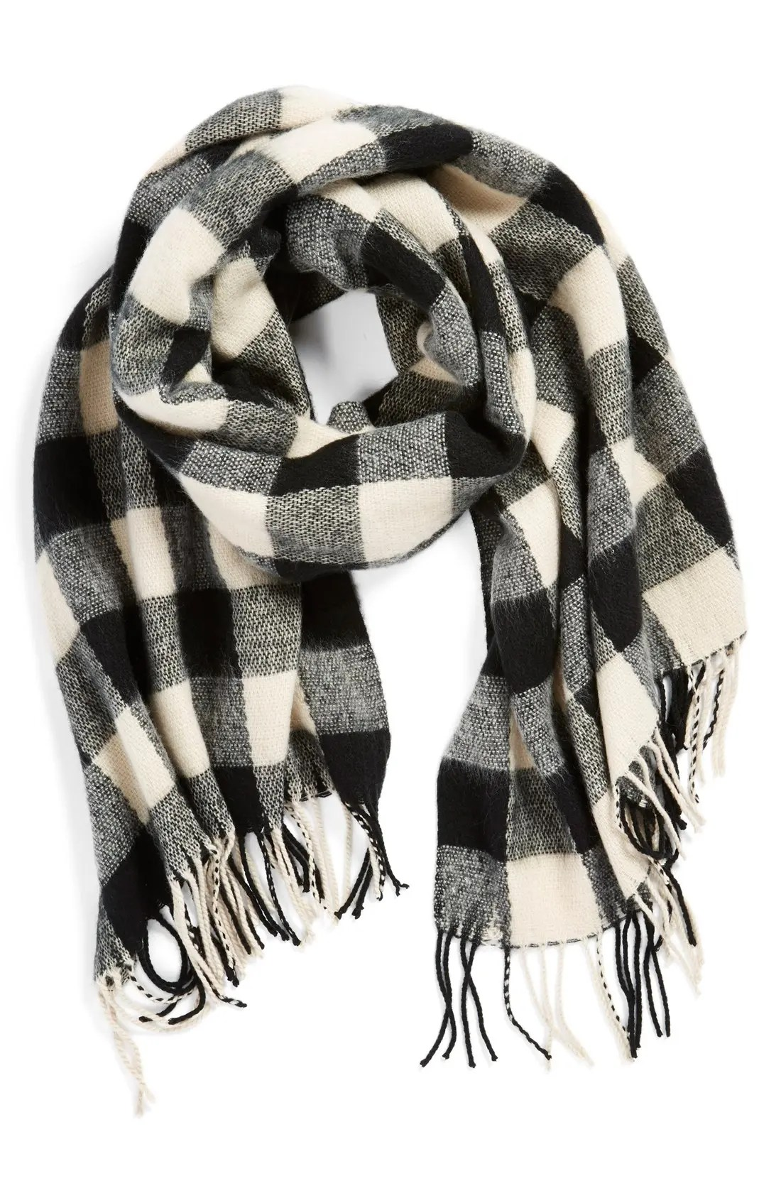 Main Image - BP. Buffalo Plaid Oblong Scarf