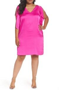 45d4eae7f261a RACHEL Rachel Roy Flutter Sleeve Shift Dress (Plus Size