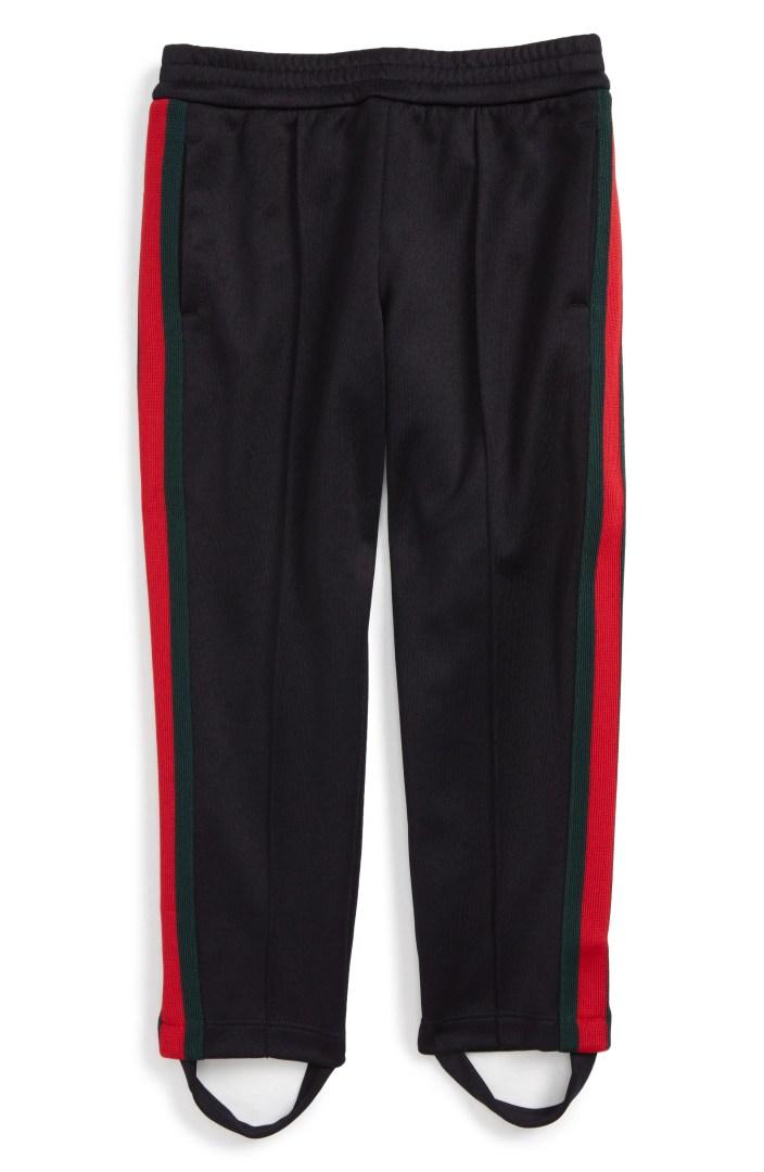 Gucci Stripe Jersey Stirrup Pants Little Girls  Big