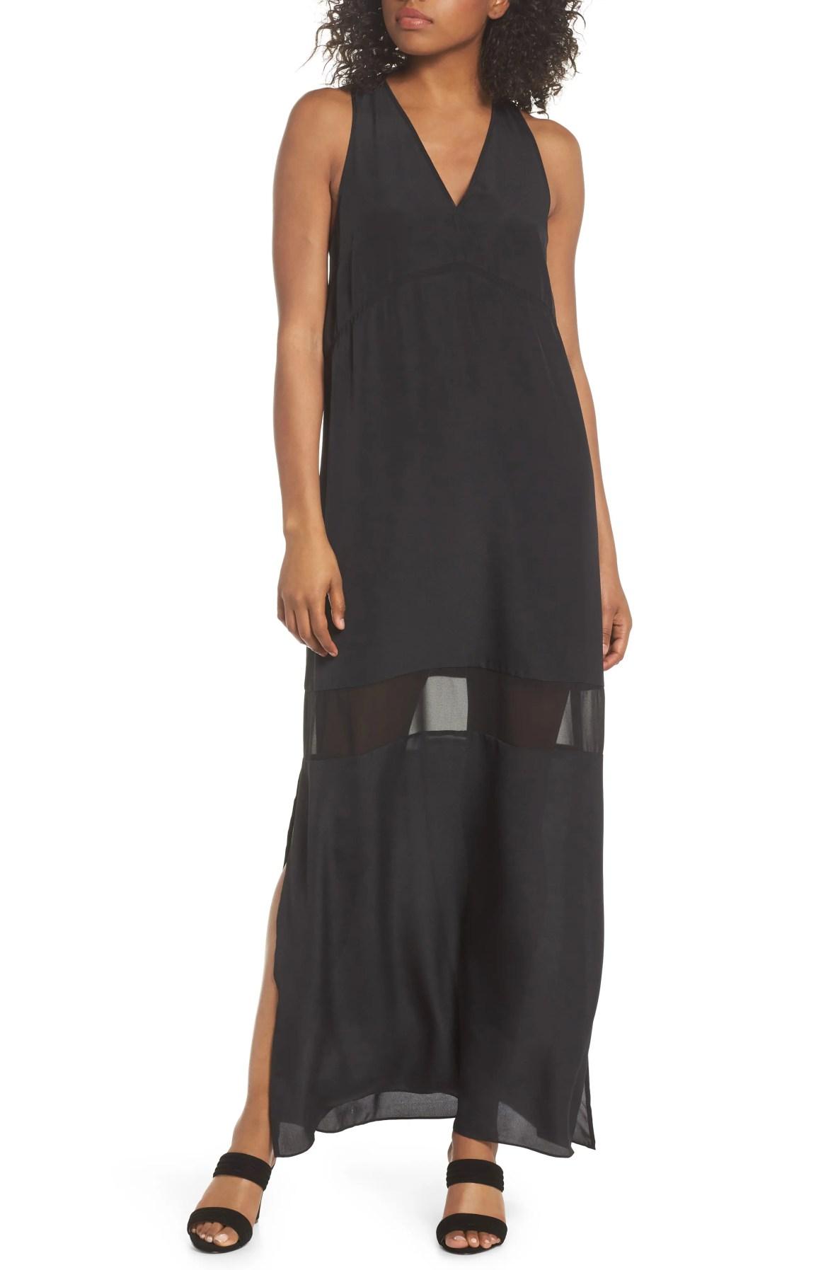 Hampton Maxi Dress, Main, color, Black