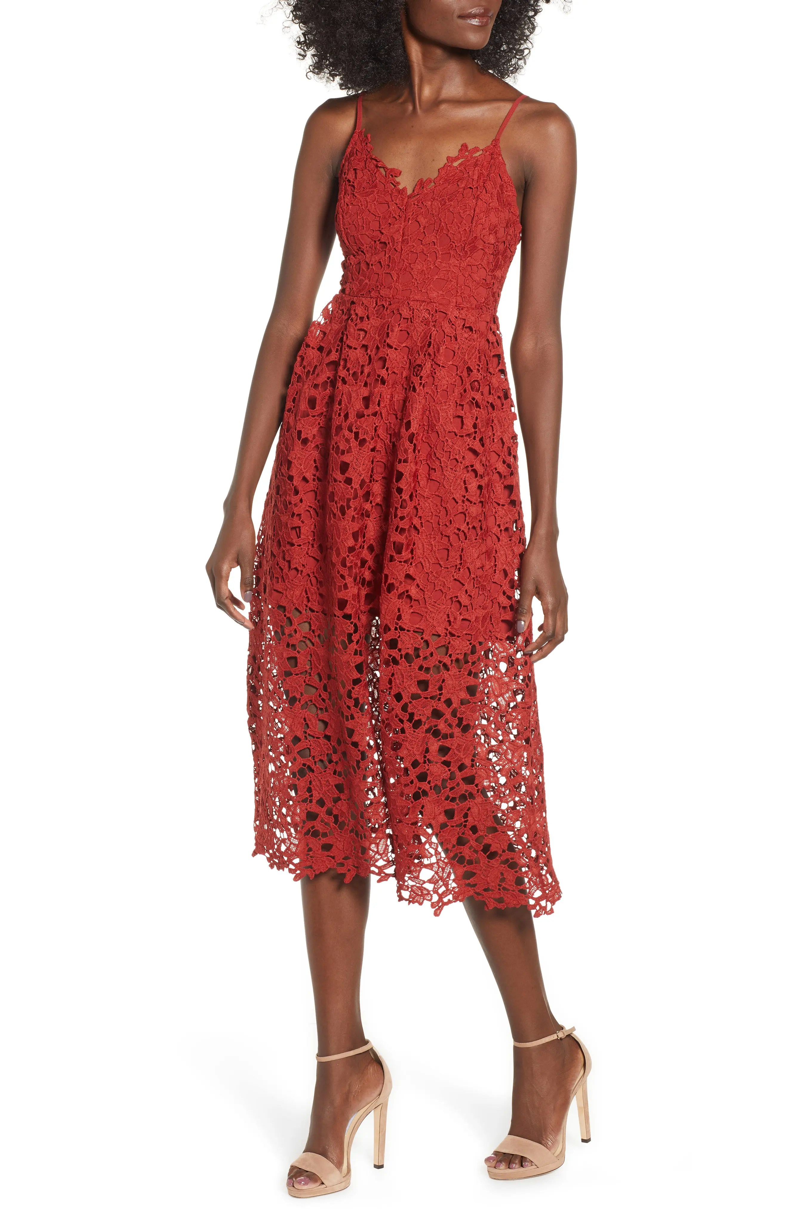 Astr the label lace midi dress also women   clothing nordstrom rh shoprdstrom