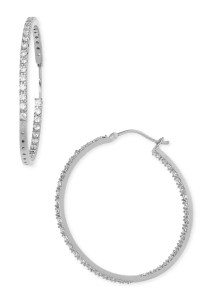 Nordstrom 'Inside Out' Cubic Zirconia Hoop Earrings