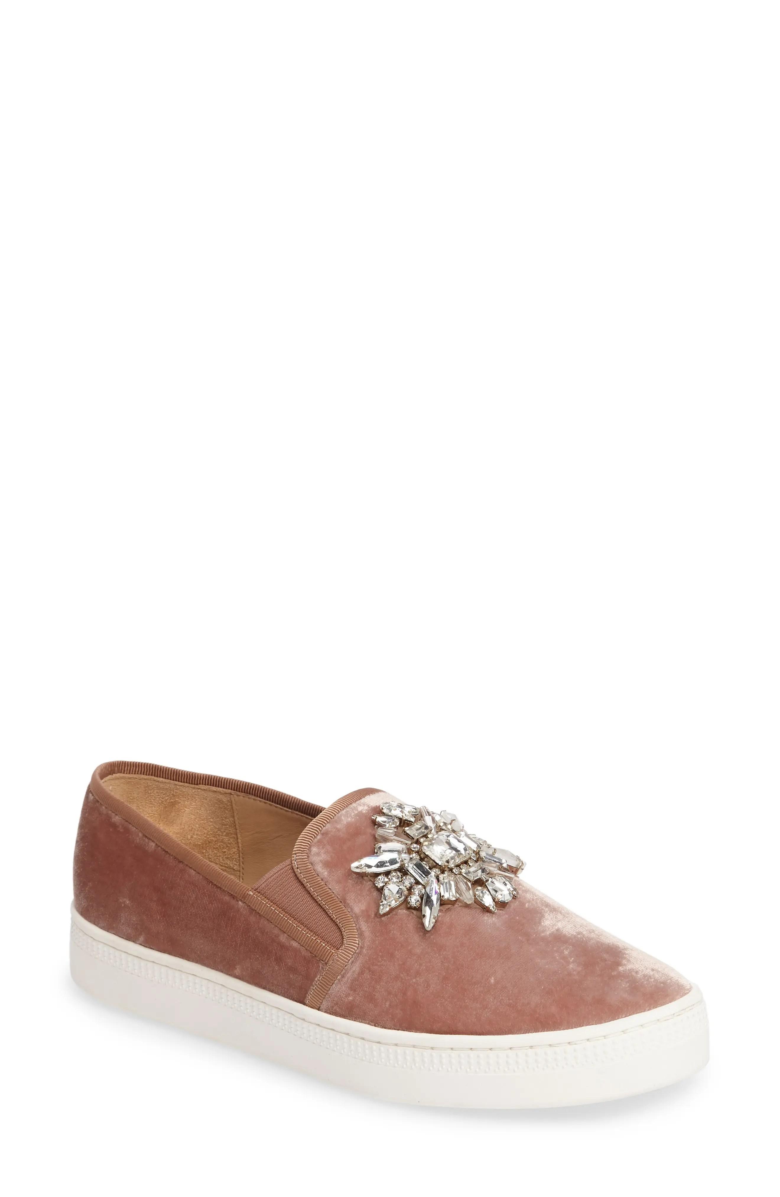Main Image - Badgley Mischka Barre Crystal Embellished Slip-On Sneaker (Women)