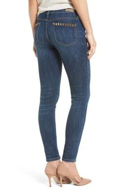 Main Image - BLANKNYC Studded Skinny Jeans (Fresh Brew)