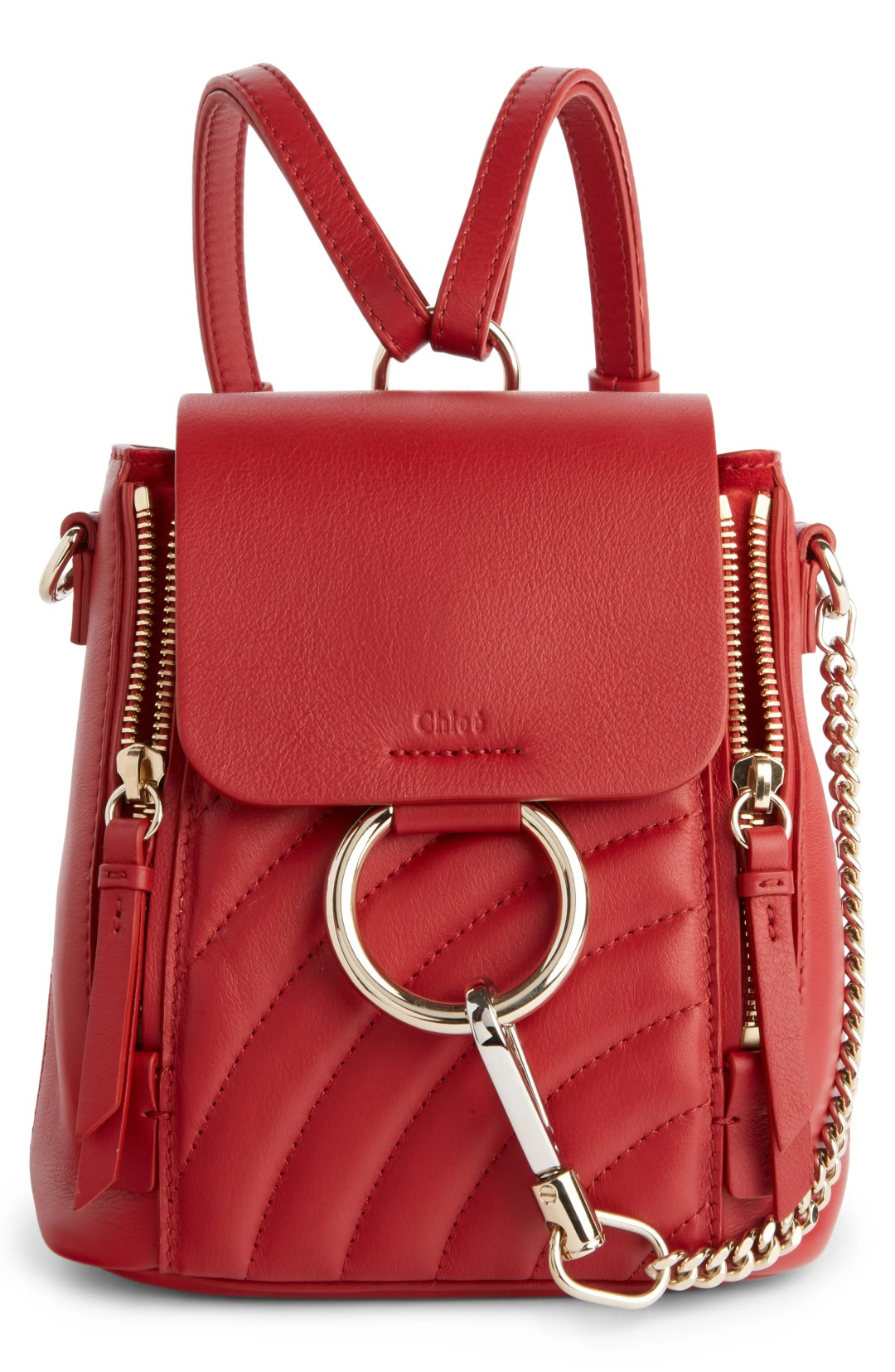 067cb557d6b Chloé Faye Quilted Leather Backpack