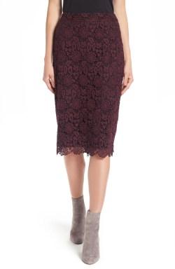 Main Image - Halogen® Lace Pencil Skirt (Regular & Petite)