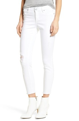Main Image - Articles of Society Carly Distressed Ankle Skinny Jeans (Cannes)
