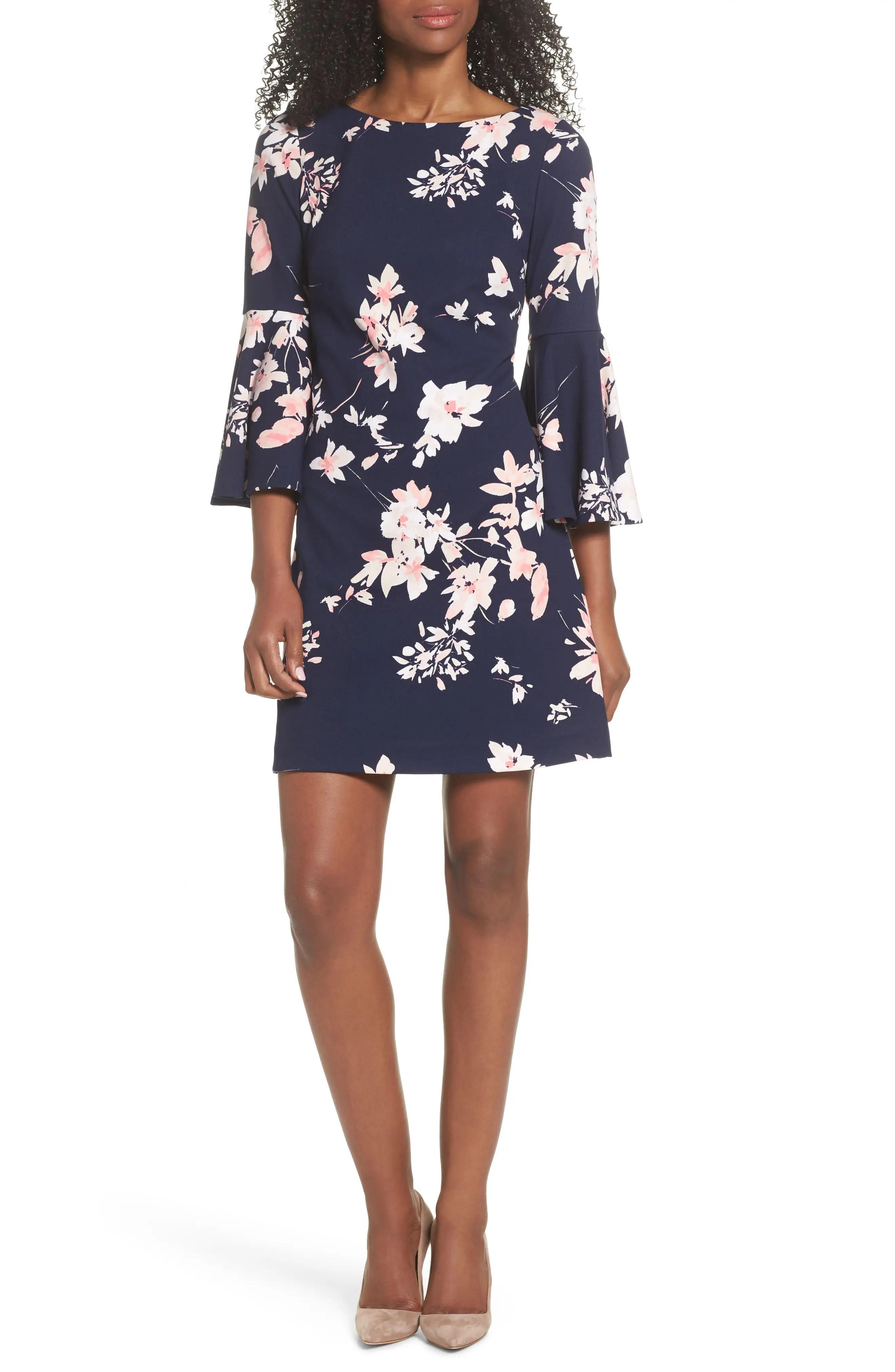 Eliza  floral bell sleeve dress also women   dresses nordstrom rh shoprdstrom