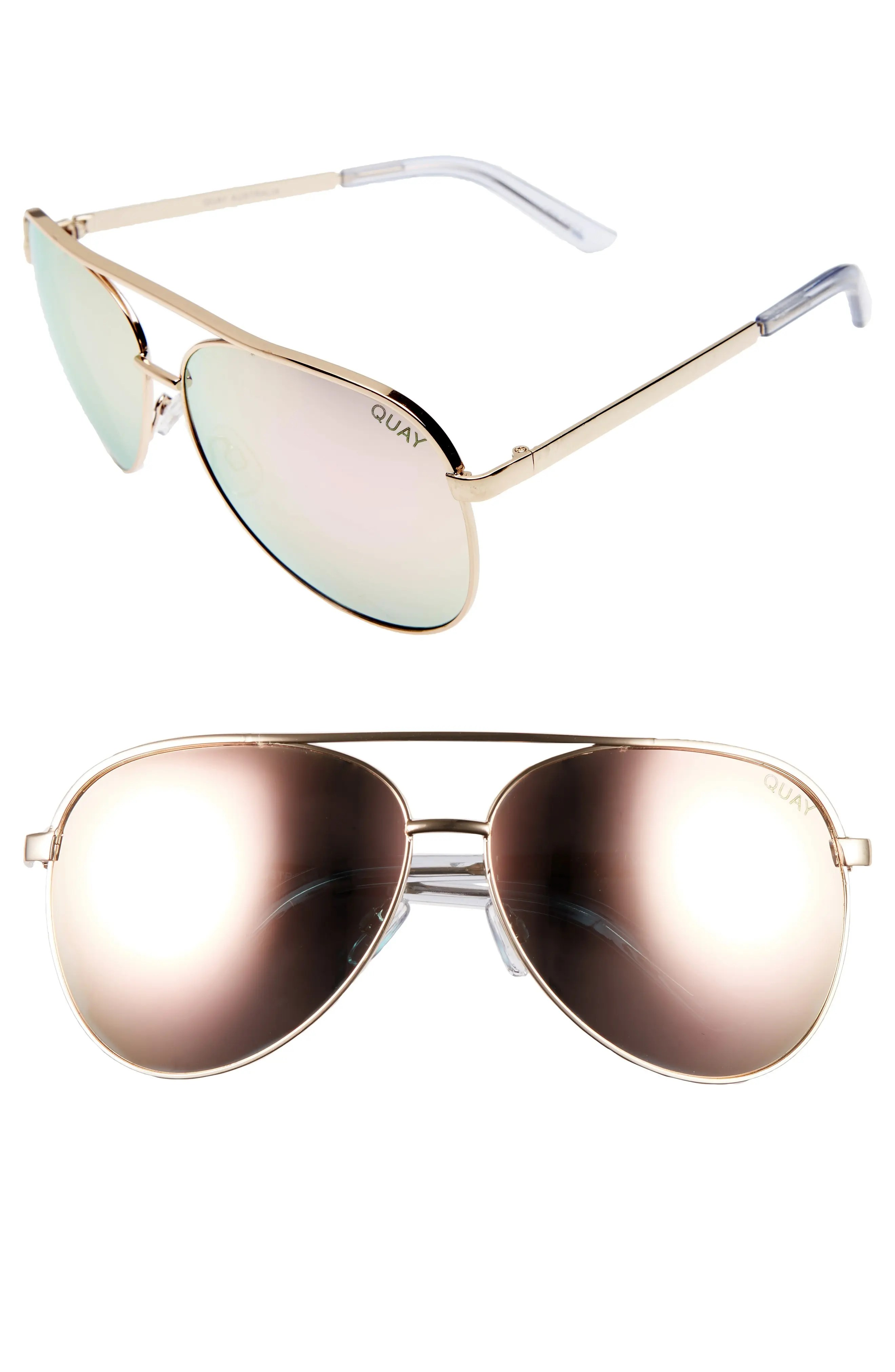 Main Image - Quay Australia Vivienne 64mm Aviator Sunglasses