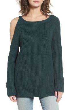 Main Image - Treasure & Bond Asymmetrical Cold Shoulder Sweater