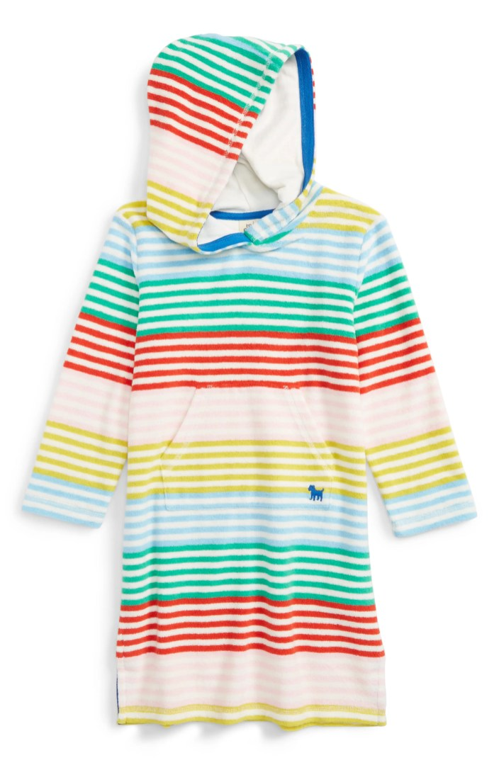 Mini Boden Print Towelling Beach Dress Toddler Girls