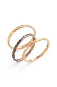 Nordstrom hammered rings set of three