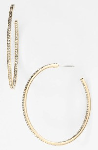 Nadri Medium Inside Out Hoop Earrings (Nordstrom Exclusive