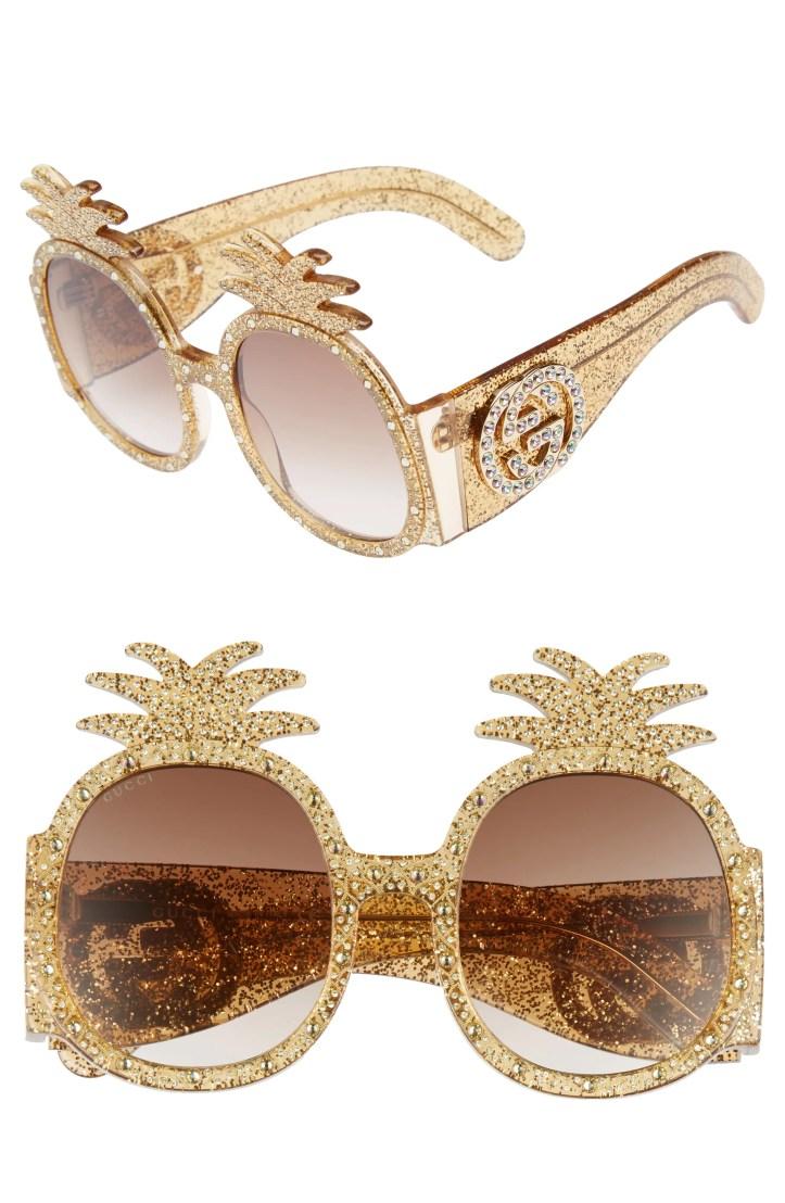 Gucci 53mm Pineapple Sunglasses
