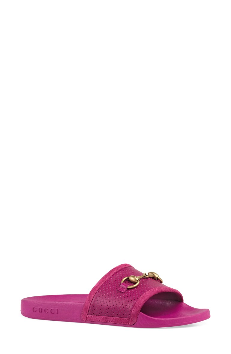 Gucci Pursuit Horsebit Slide Sandal (Women)