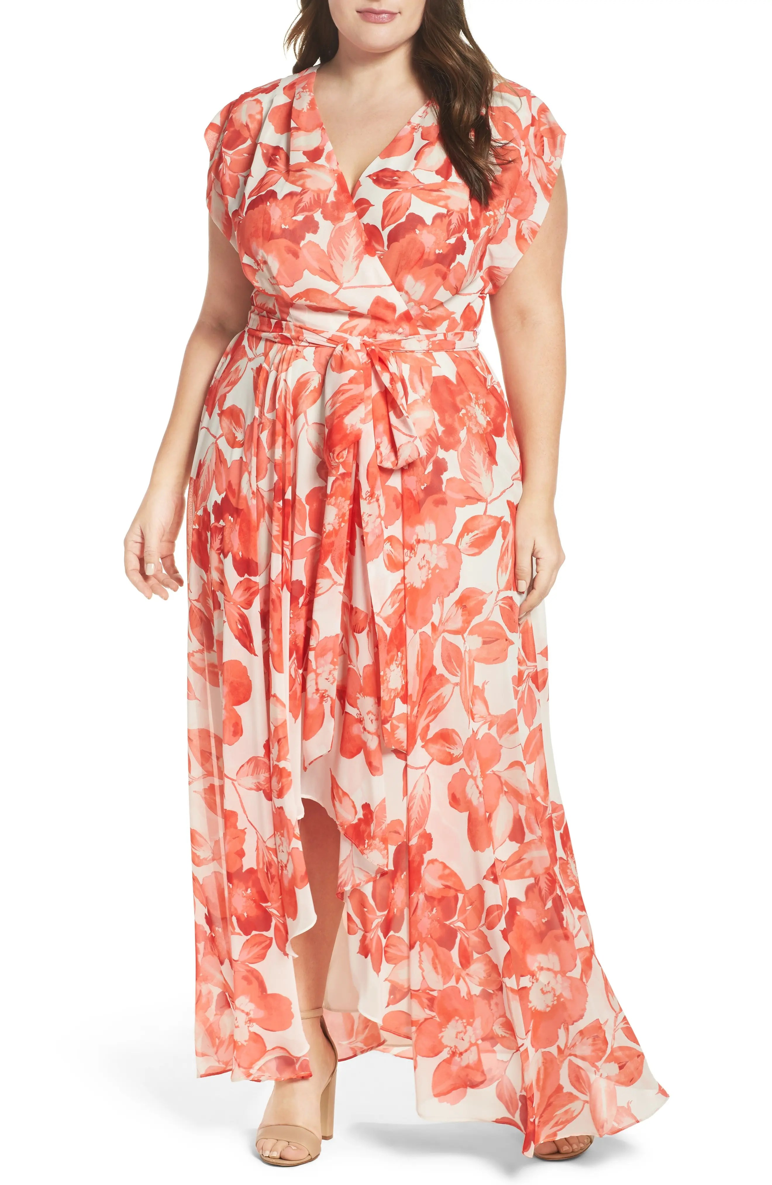 Eliza  floral chiffon high low maxi dress plus size also clothing for women nordstrom rh shoprdstrom
