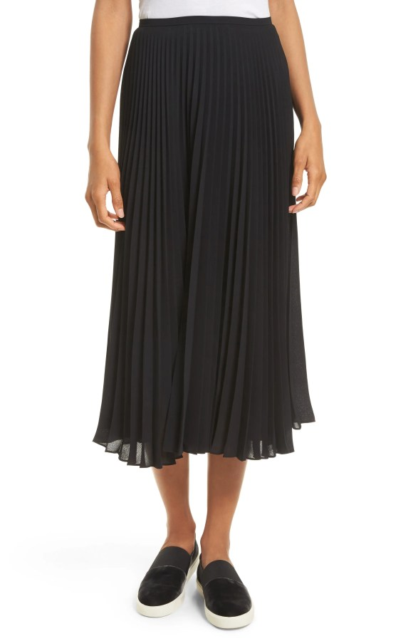 Main Image - Vince Pleated Chiffon Midi Skirt