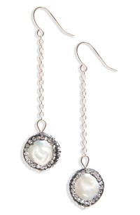 Panacea Freshwater Pearl & Crystal Drop Earrings