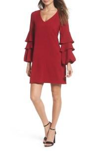 Charles Henry Tiered Ruffle Sleeve Dress (Regular & Petite ...
