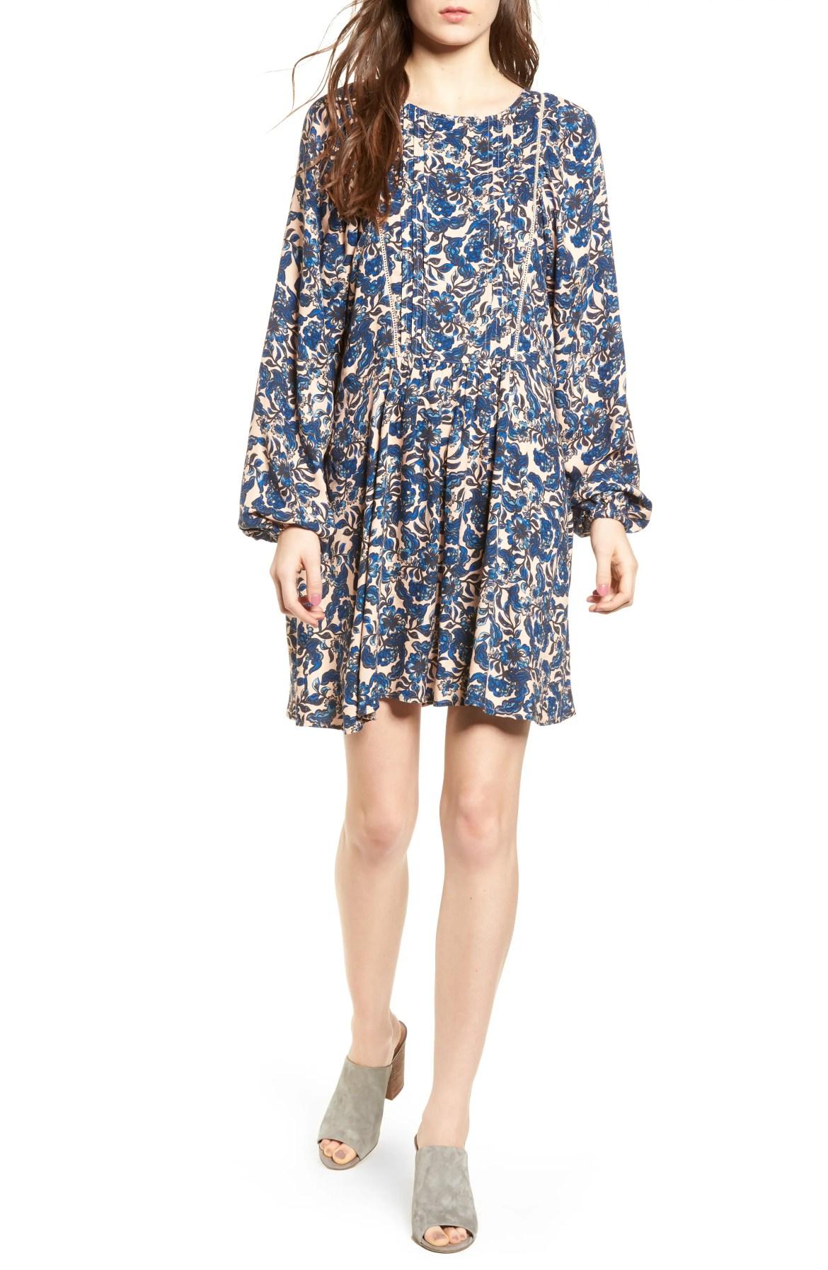 Print Full Sleeve Minidress