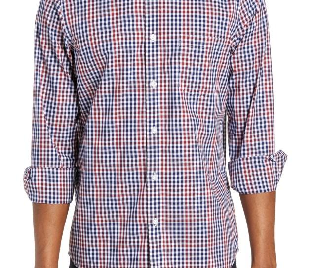 Nordstrom Mens Shop Regular Fit Non Iron Gingham Sport Shirt