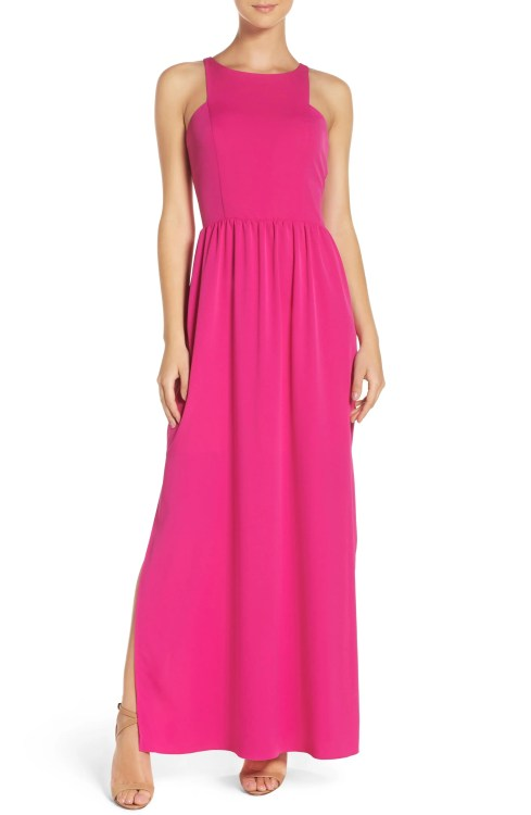 Main Image - Chelsea28 Cutaway Shoulder Maxi Dress