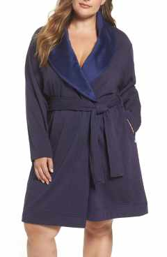 ugg blanche plush shawl collar robe plus