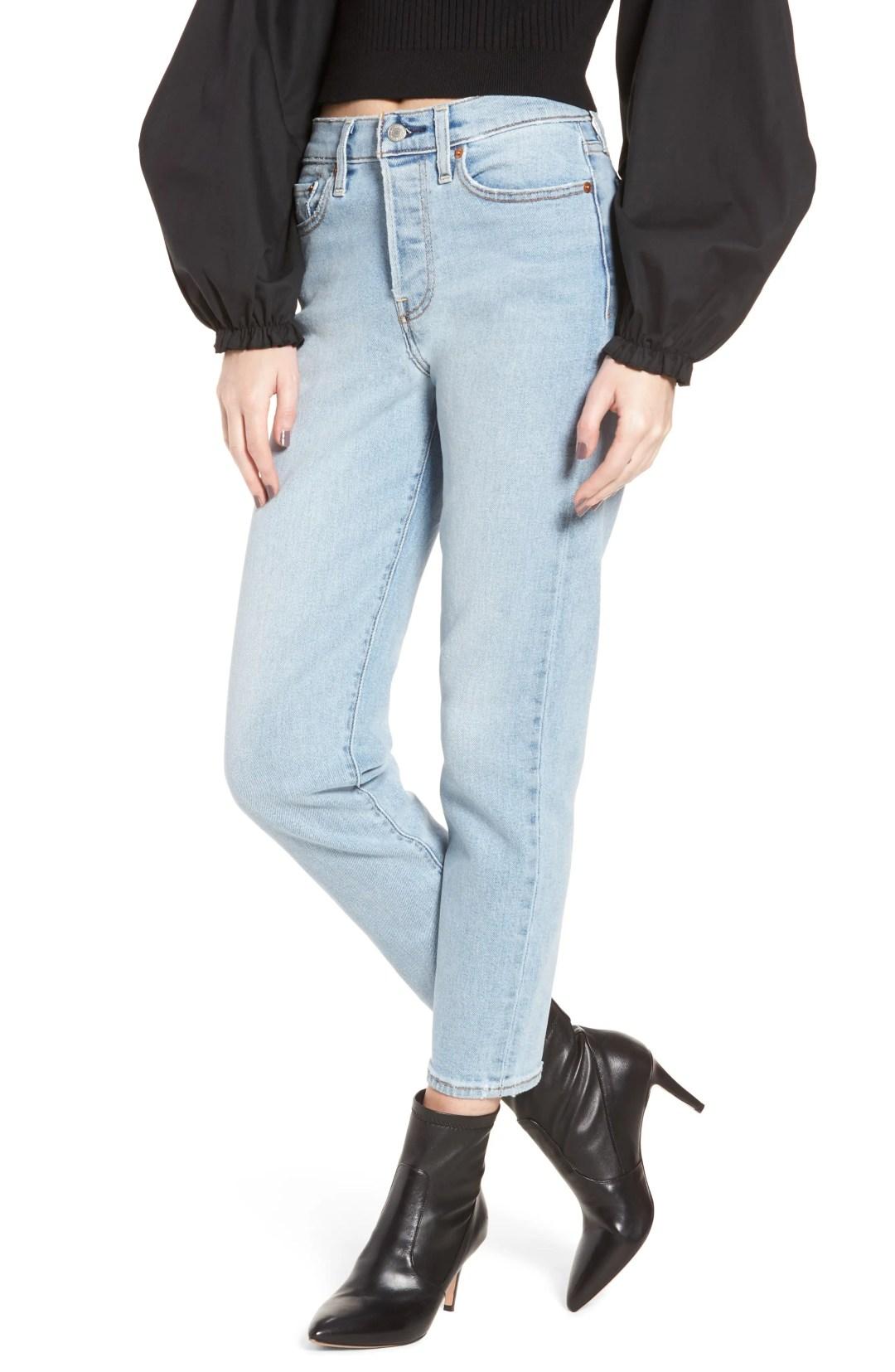 9691a89766c Levi s® Wedgie Icon Fit High Waist Crop Jeans (Bauhaus Blues)