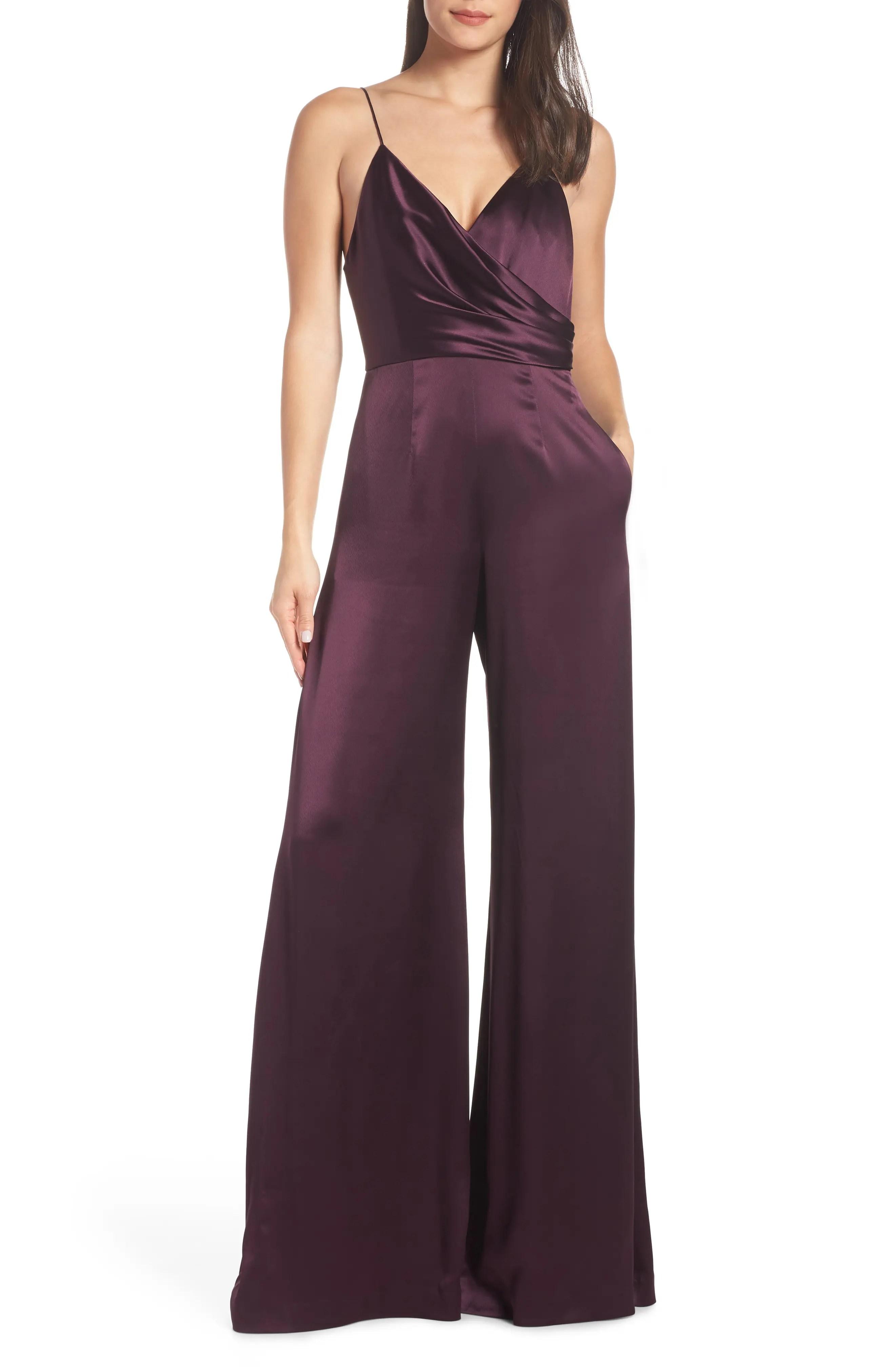 Jill stuart wrap look satin jumpsuit also dresses  gowns nordstrom rh shoprdstrom