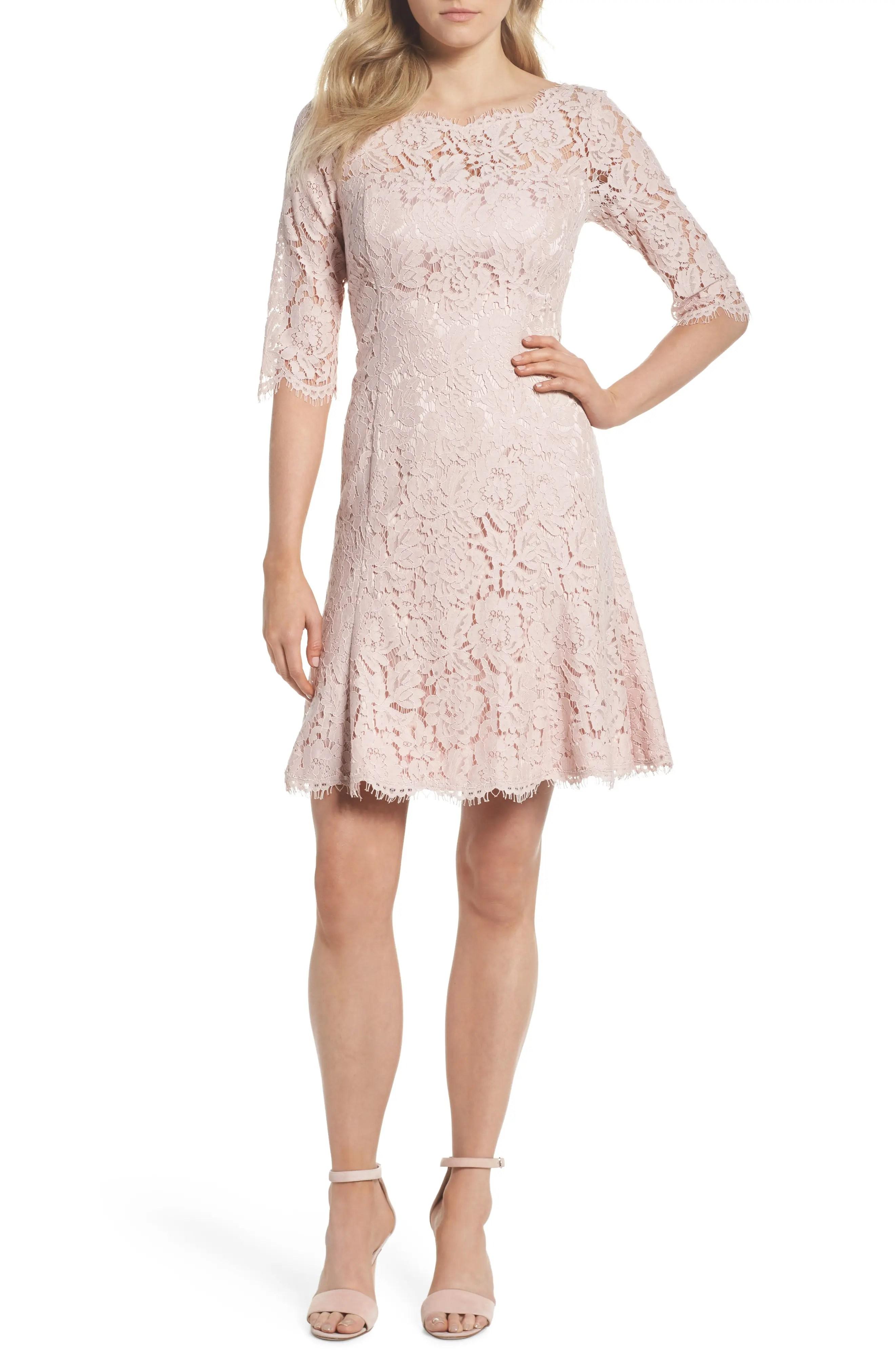 Eliza  lace fit  flare dress regular petite also women  dresses nordstrom rh shoprdstrom