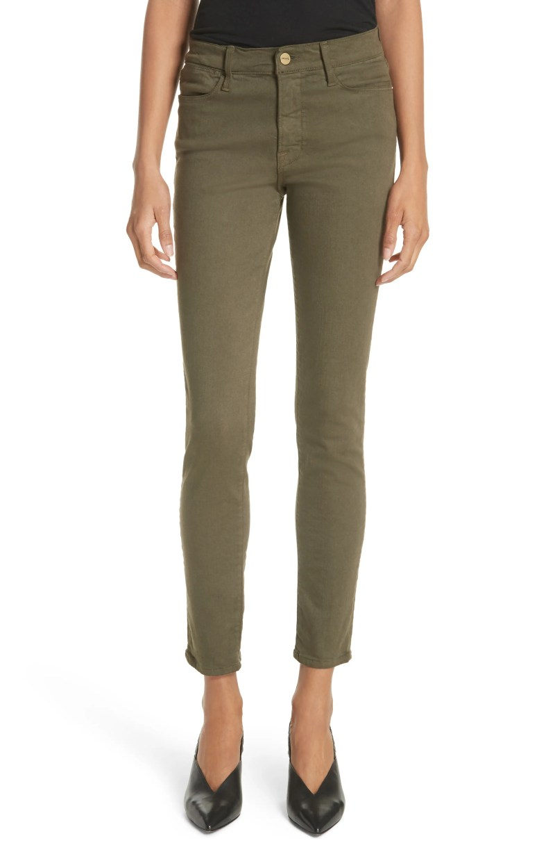 Le Skinny de Jeanne Ankle Jeans, Main, color, Forest