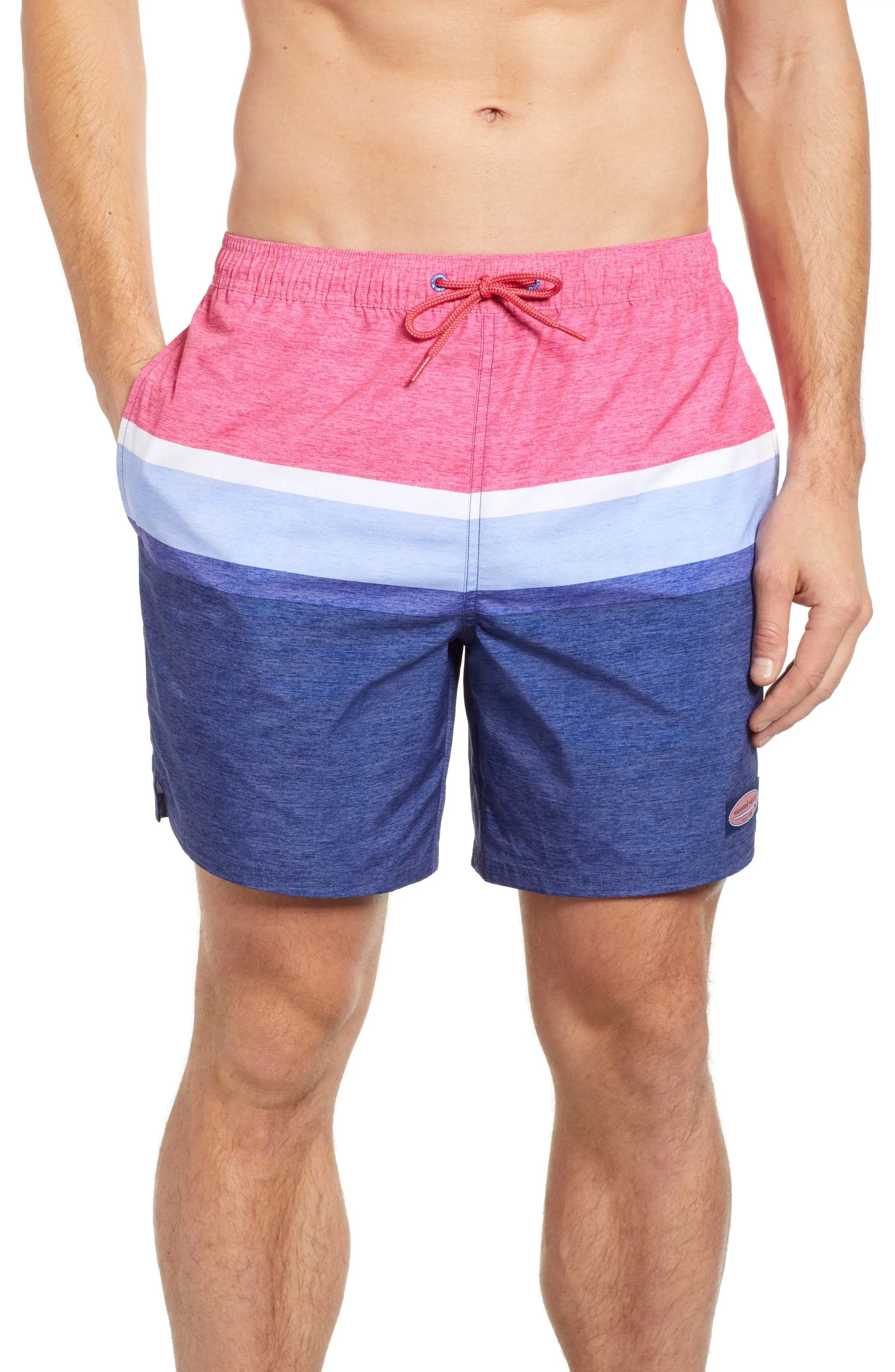Vineyard vines deck stripe chappy swim trunks also big and tall clothing men   suits more nordstrom rh shoprdstrom