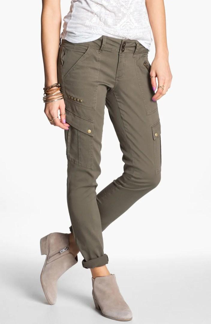 Jolt Studded Skinny Cargo Pants Juniors Online Only