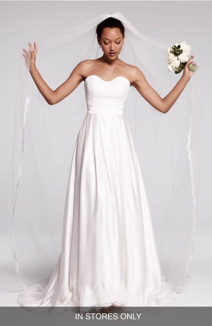 Olia Zavozina Ebie Lace  Silk Charmeuse Dress In Stores Only  Nordstrom