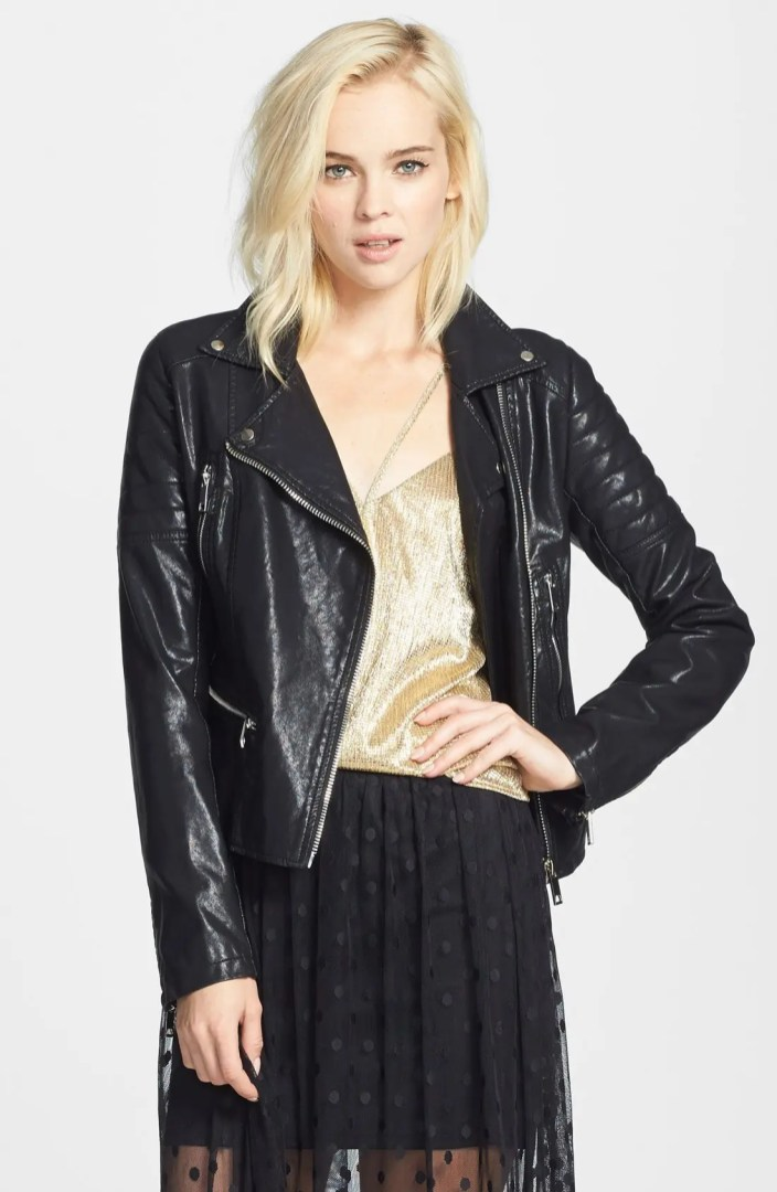 BLANKNYC Quilted Faux Leather Jacket Nordstrom