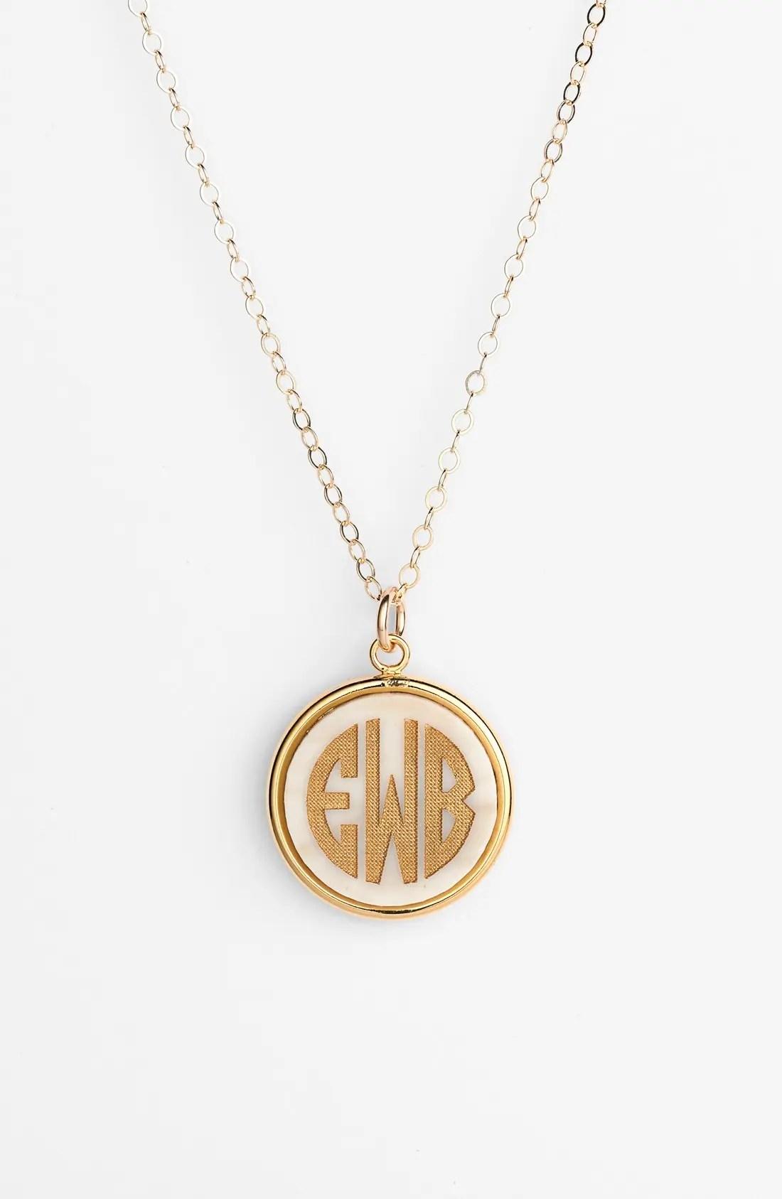 nordstrom monogram necklace