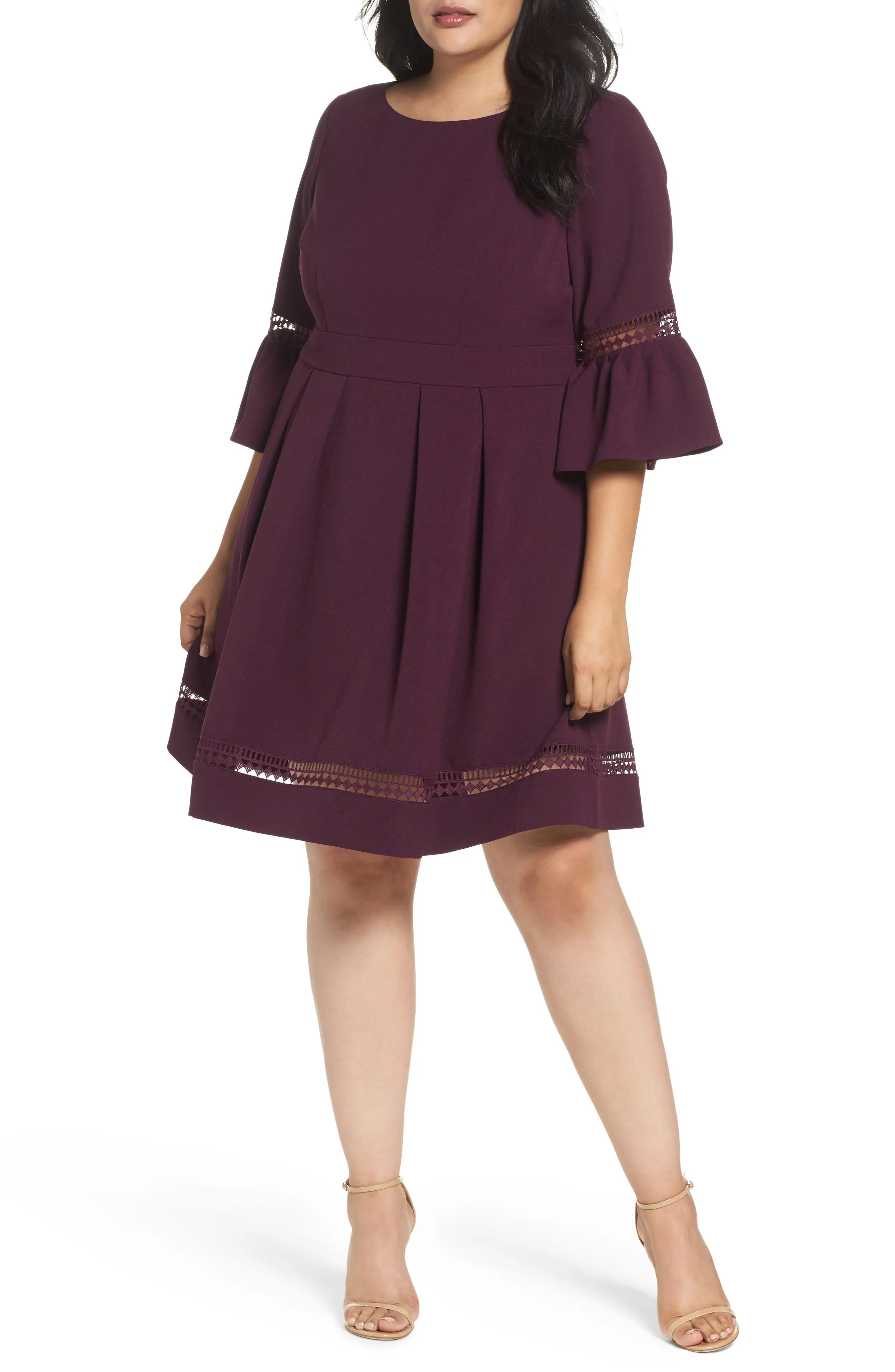 Eliza  bell sleeve fit  flare dress plus size also clothing for women nordstrom rh shoprdstrom