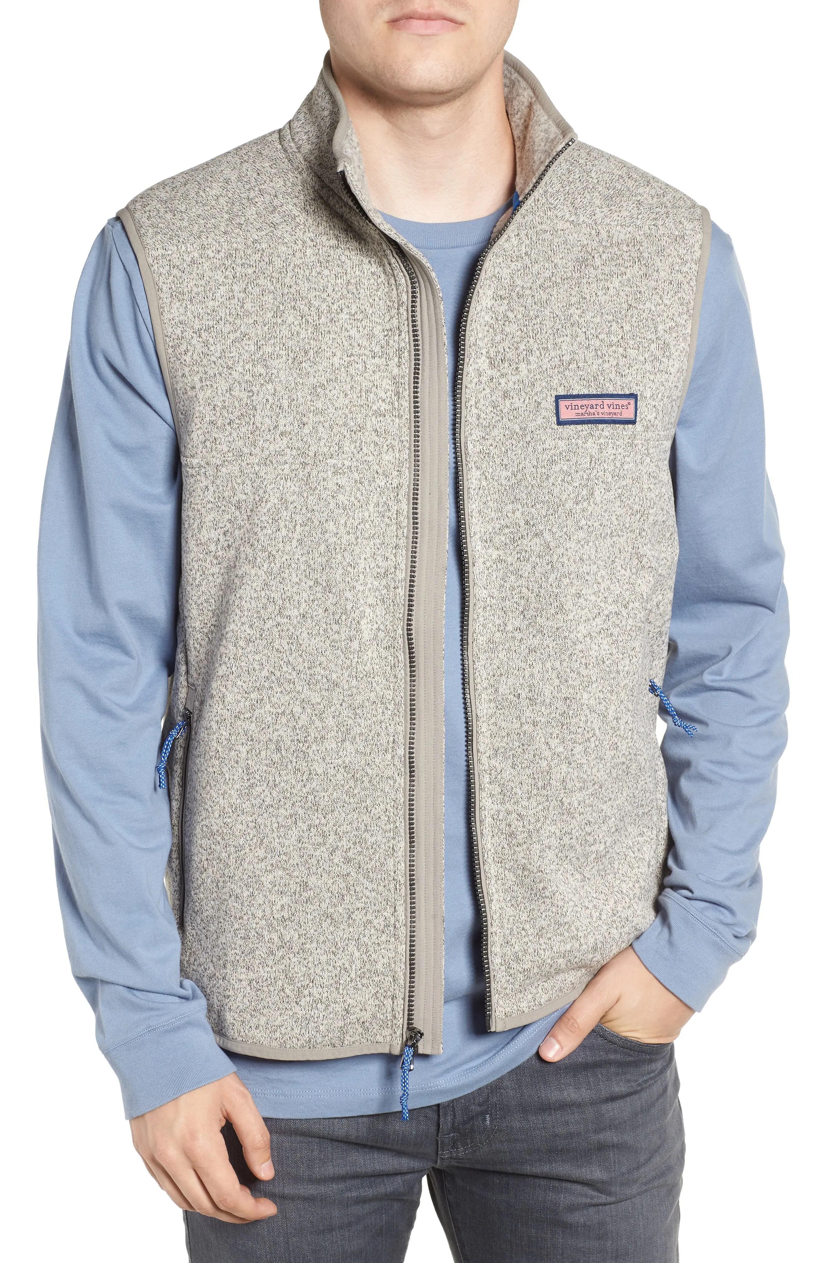 Vineyard vines fleece zip vest also big and tall clothing men   suits more nordstrom rh shoprdstrom