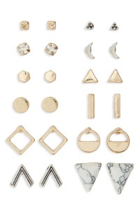 BP. Geometric Stud Earrings (Set of 12) | Nordstrom