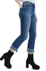 Main Image - Topshop Dree Fringe Crop Jeans