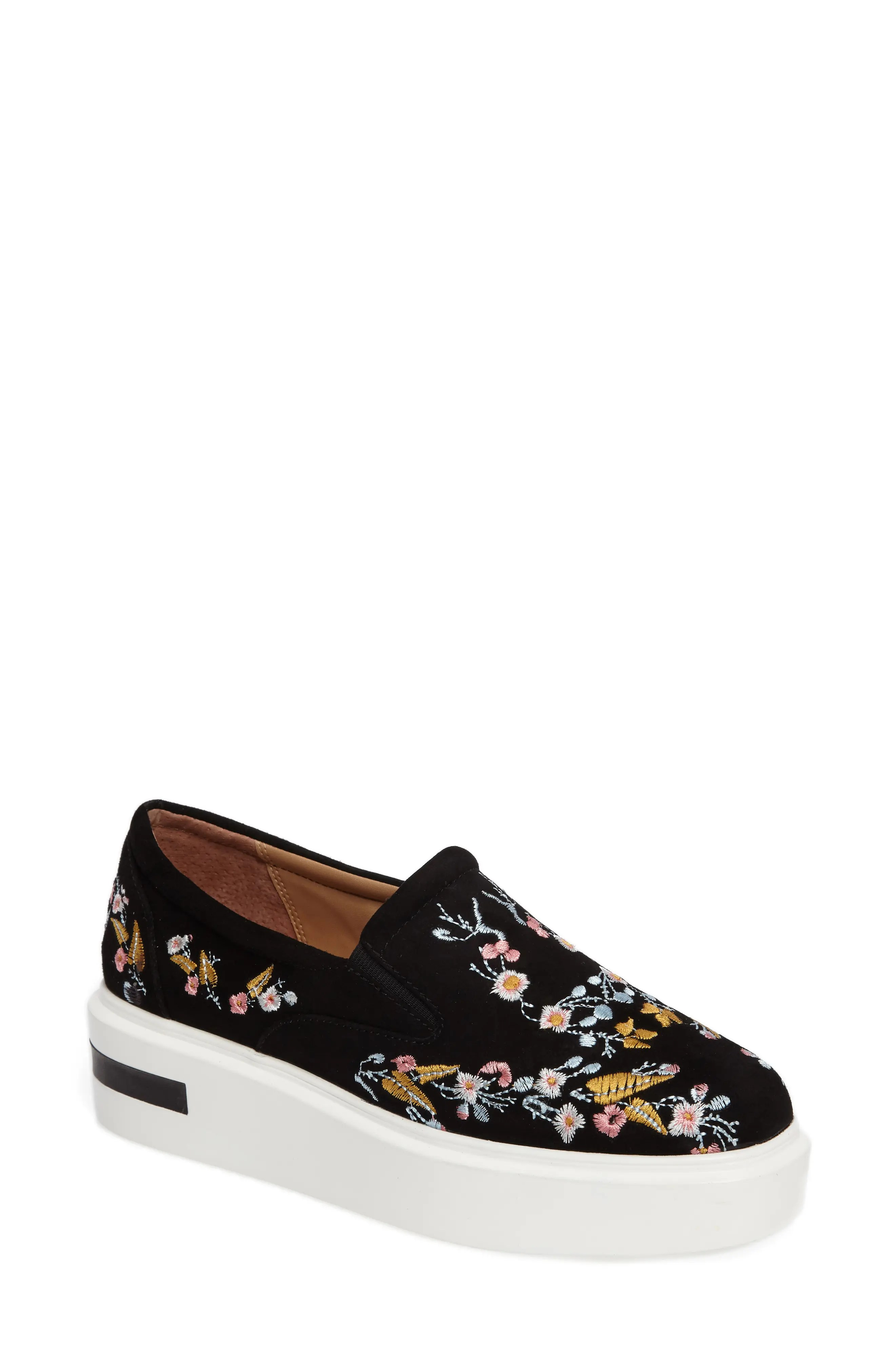 Linea Paolo Fairfax II Embroidered Platform Sneaker (Women)