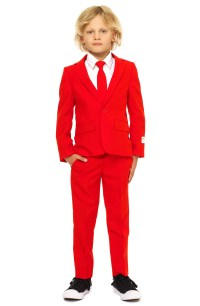 Oppo Red Devil Two-Piece Suit with Tie (Toddler Boys ...