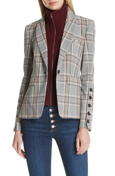 Steel Jacket with Removable Turtleneck Dickey, Main, color, Brown Multi