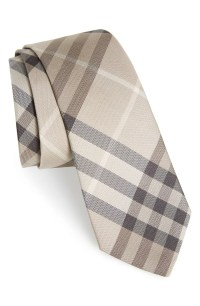 Burberry 'Manston' Check Silk Tie
