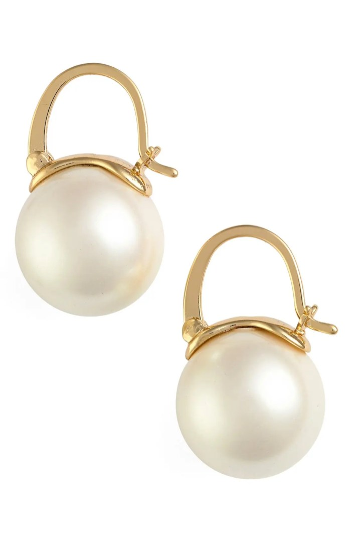kate spade new york faux pearl drop earrings