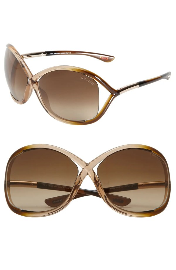 Tom Ford 'whitney' 64mm Open Side Sunglasses - Rose Brown